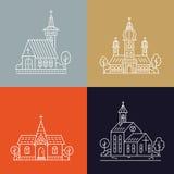 Kirchenlinie Satz stock abbildung