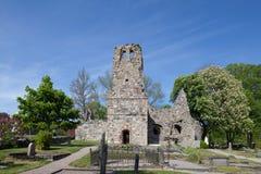 Kirchenruine St. Olof von Sigtuna Stockbilder