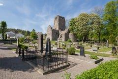 Kirchenruine St. Olof von Sigtuna Lizenzfreie Stockfotos