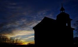 Kirchenschattenbild lizenzfreie stockfotografie