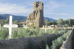 Kirchenstruktur im Taos-Pueblo-New Mexiko Lizenzfreies Stockfoto
