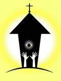 Kirchensymbol Stockfoto