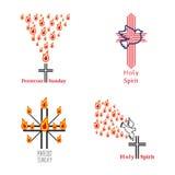 Kirchensymbolsatz Stockbilder