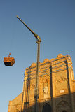 Kirchenwiederherstellung bearbeitet San Ginesio lizenzfreie stockfotos
