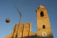 Kirchenwiederherstellung bearbeitet San Ginesio stockfoto