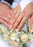 Kircheringe. Hochzeitstag Lizenzfreie Stockfotos