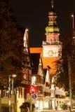 Kirchheim Teck på natten Royaltyfri Bild