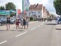 Kirchheimbolanden, Renania-Palatinado, Germany-06 23 2019: Desfile del día de fiesta en las calles de la ciudad alemana durante s fotografía de archivo libre de regalías