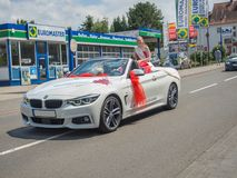 Kirchheimbolanden, Rijnland-Pfalz, Duitsland-06 23 2019: Vakantieparade op straten van Duitse stad tijdens de week van het Bierfe stock fotografie