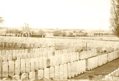 Kirchhof des Tyne-Taubenschlagersten weltkrieges Lizenzfreie Stockbilder