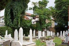 Kirchhof in Mostar Stockbilder