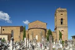 Kirchhof Porte Sante und San Miniato-Basilika in Florenz, Italien Lizenzfreies Stockfoto