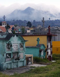 Kirchhof Quetzaltenango, Guatemala stockfotos