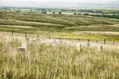 Kirchhof und Schlachtfeld am Little Bighorn Stockbild