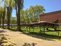 Kirchhof von Sowjet-Ärakämpfern in Chernigov stockbild