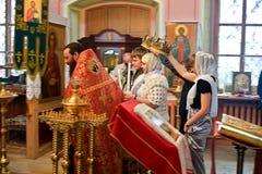 Kirchliche Hochzeit Stockfoto