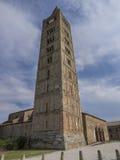 Kirchturm der Abtei von Pomposa, Codigoro Lizenzfreies Stockfoto