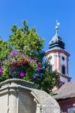 Kirchturm der Heiliger Maria auf Insel Mainau, Deutschland Stockfotografie