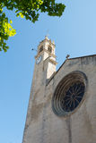 Kirchturm in Frankreich Stockfotografie