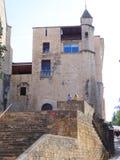 Kirchturm, Girona Stockfoto