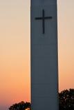 Kirchturm-Sonnenuntergang Stockbilder