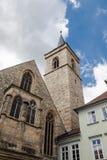 Kirchturm von St. Lorenz in Erfurt, Deutschland Stockfotos
