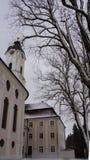 Kirchturm wieskirche des bayerischen Pilgerbestimmungsortes lizenzfreies stockfoto