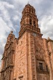 Kirchturm in Zacatecas Mexiko Stockbild