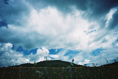 kirghizian небо Стоковые Фото