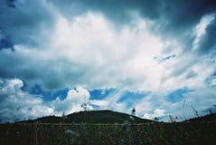 kirghizian sky Arkivfoton
