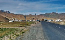 Kirgisistan Alai Valley Stockbilder