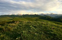 Kirgistan berg Arkivfoto