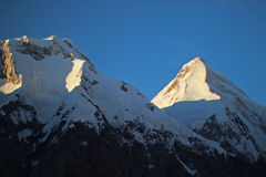 Kirgistan, Khan - Tengri (7.010 m) Fotografia Stock