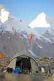 Kirgistan, Khan Tengri podstawowy obóz - (7.010 m) Obrazy Stock