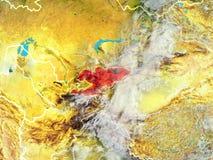 Kirgistan na ziemi od przestrzeni ilustracja wektor