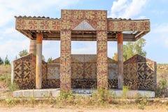 Kirgistan, Sierpień - 25, 2016: Zaniechani autobusowej przerwy czasy USA Zdjęcia Royalty Free