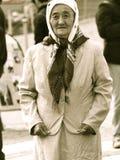 Kirgiz kvinna, röd fyrkant, Moskva royaltyfri foto