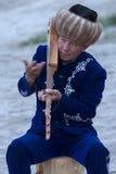 Kirgizisk musiker Arkivfoto