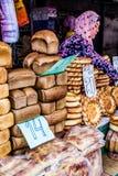 Kirgizstan-Markt Bäckerei Stockbild