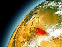 Kirguistán de la órbita de Earth modelo Imagenes de archivo