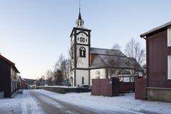 Kirhe Bergstadens Ziir in Roros. Church Bergstadens Ziir in Roros, Norway Royalty Free Stock Photography