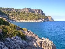 Kiriş - Kemer coast, Turkey Stock Photos