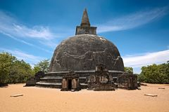 Kiri Vihara - ancient buddhist dagoba (stupa) Royalty Free Stock Image