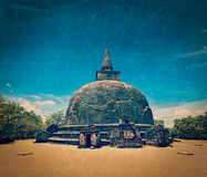 Kiri Vihara - ancient buddhist dagoba (stupa) Stock Photo