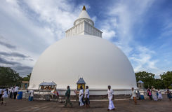 Kiri Vihara på Kataragama i Sri Lanka Arkivfoton