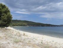 Kiriakidou海滩, Thassos海岛,希腊 库存图片