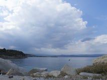 Kiriakidou海滩, Thassos海岛,希腊 免版税库存图片