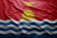 Kiribati bandery Obrazy Royalty Free