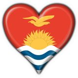 Kiribati button heart round Royalty Free Stock Image