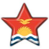 Kiribati button star round Stock Photo